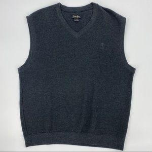 Walter Hagen Black Gray Golf Sweater Vest Size M